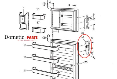 Dometic Parts Door Handle 3850558028 - Seek Adventure RV