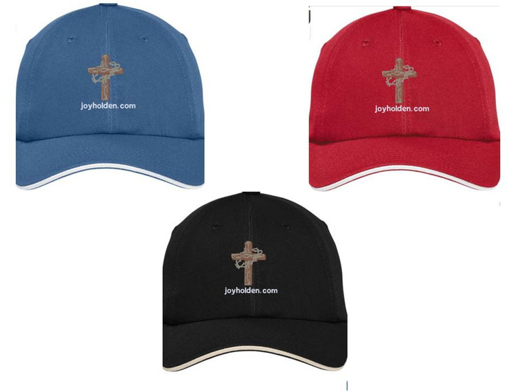 Baseball Hats with embroidered cross logo
