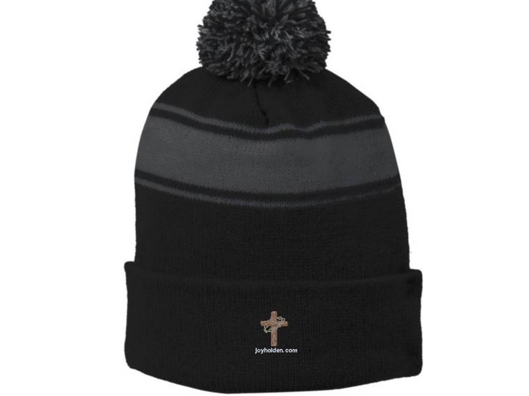 Beanie Hats Iron Grey and Black Embroidered Logo