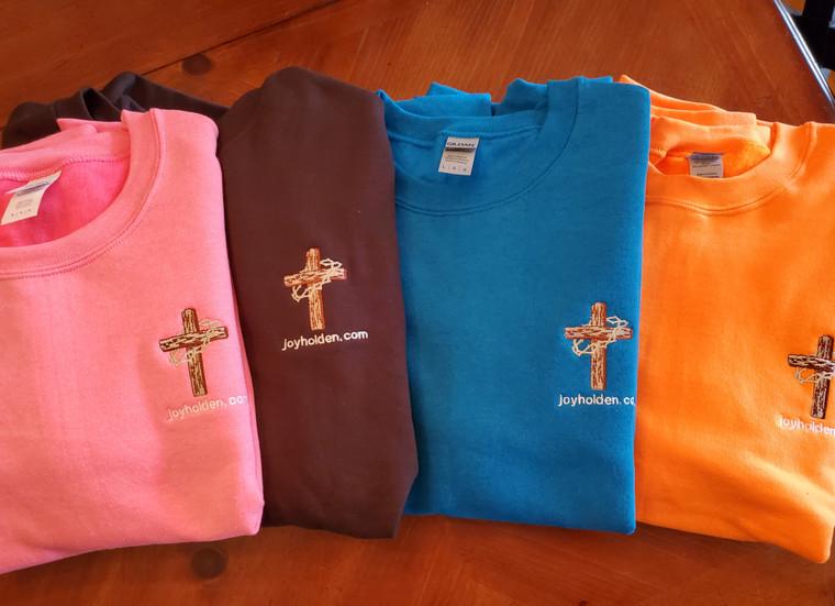 Gildan colored sweatshirts