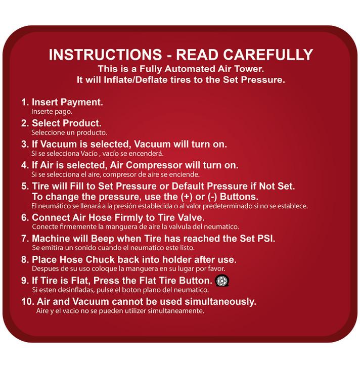 SC12 PAY Instructions (Air & Vacuum 2 Push Button)