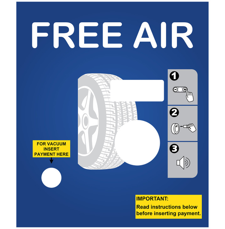 SC12 FREE Air/Pay Vac Coin Only Hinge Panel
