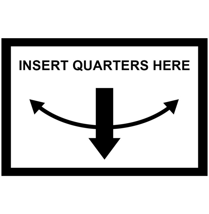 Insert Coins Here Decal