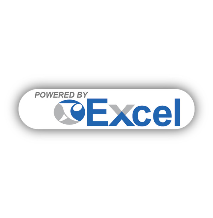 SC05 Control Head Powered By Excel Decal
