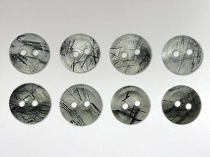 Buttons 10mm - Quartz Tourmalinated
