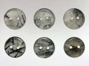 Buttons 15mm - Quartz Tourmalinated