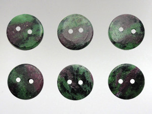 Buttons 15mm - Ruby Zoisite