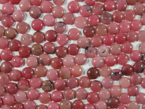 Cabochon 10 Piece 10mm Round - Rhodonite
