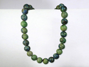 Necklace 10mm Bead - Azurite Malachite