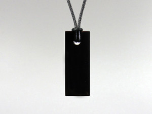 Rectangle Pendant - Obsidian Black