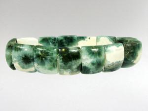 Bracelet Rectangle Bead  - Orbicular Jasper