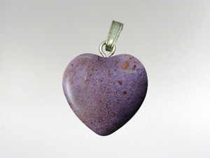 Heart Pendant 15mm - Jadeite Purple