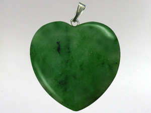 Heart Pendant 30mm - Jade Nephrite