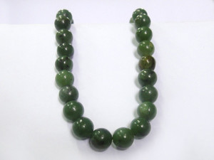 Necklace 10mm Bead - Jade Nephrite