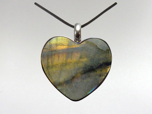 Heart Pendant - Labradorite