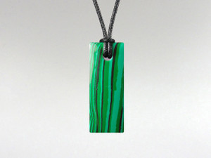 Rectangle Pendant - Malachite