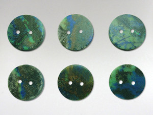 Buttons 15mm - Azurite Malachite