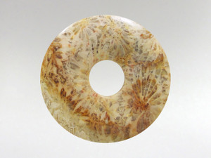Donut Pendant 30mm - Coral Fossil 5