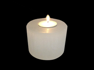 Selenite Candle Holder Polished