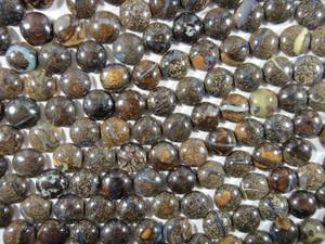 Cabochon 10 Piece 10mm Round - Boulder Opal