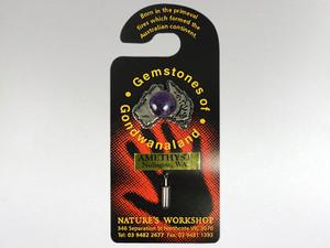 Australia Stickpin Silver - Amethyst