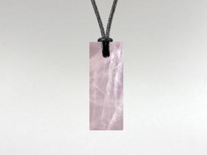 Rectangle Pendant - Rose Quartz