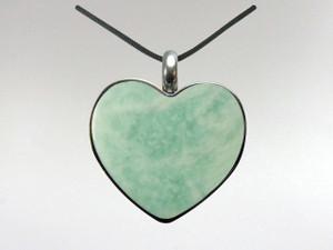 Heart Pendant - Amazonite