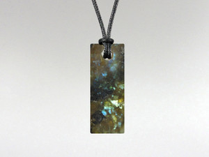 Flat Rectangle Pendant - Labradorite