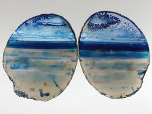 Agate Slice PAIR