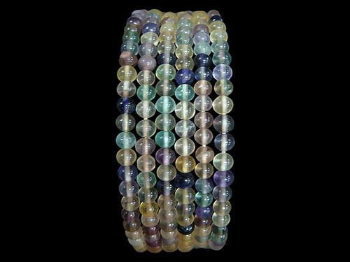 Necklace 4mm Bead - Fluorite Rainbow