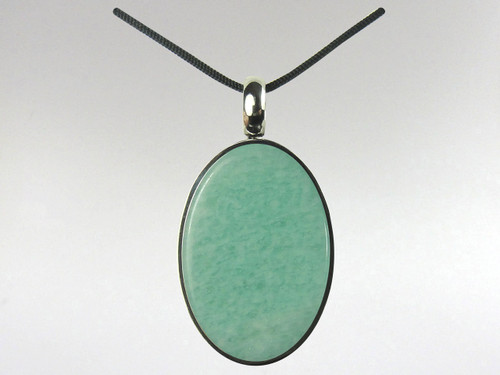 Oval Pendant - Amazonite