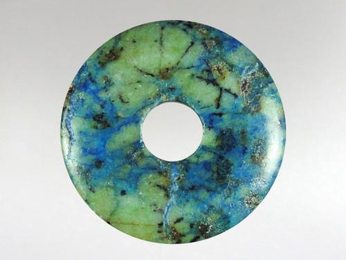 Donut Pendant 30mm - Azurite Malachite