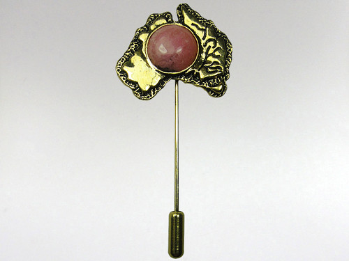 Australia Stickpin Gold - Rhodonite