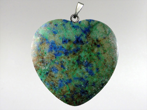 Heart Pendant 30mm - Azurite Malachite 4