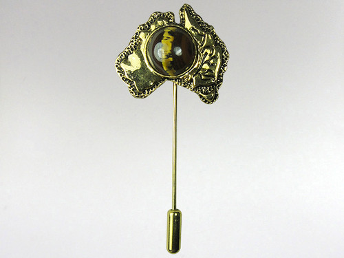 Australia Stickpin Gold - Tiger Iron