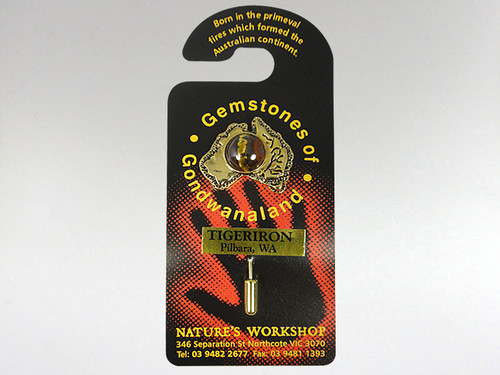 Australia Stickpin Gold - Tiger Iron