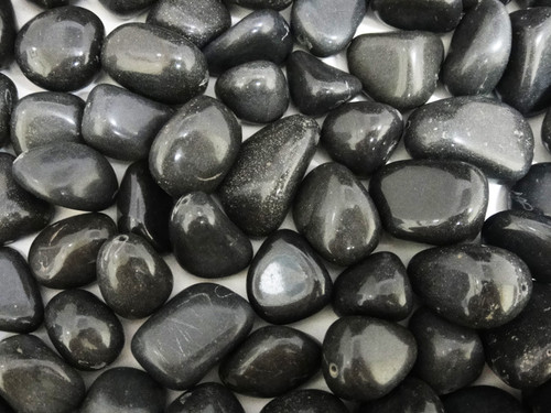 Beads Olive - Black Agate 150g