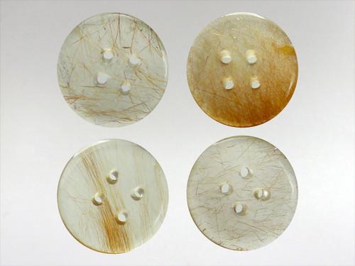 Buttons 20mm - Quartz Astrophyllite