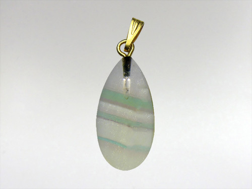 Tear Drop Pendant 20mm - Fluorite Rainbow