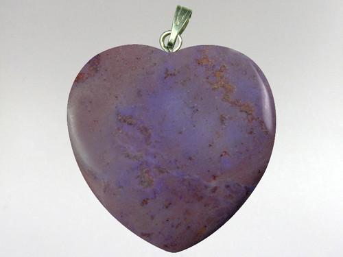 Heart Pendant 30mm - Jadeite Purple