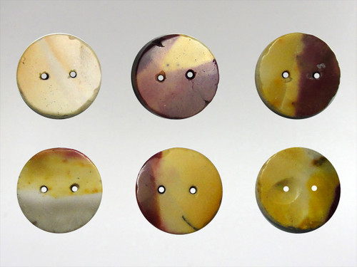 Buttons 15mm - Mookite Jasper