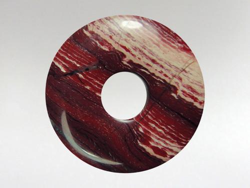 Donut Pendant 30mm - Snake Skin Jasper