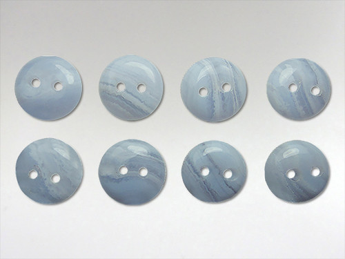 Buttons 10mm - Blue Lace Agate
