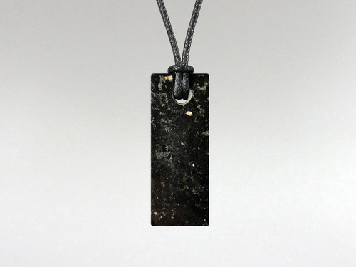 Flat Rectangle Pendant - Nuummite