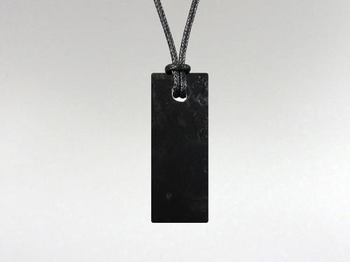 Flat Rectangle Pendant - Tourmaline Black