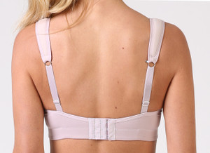 Convert the Q-Linn Sports bra to a racer back by clipping the hook on the back