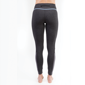 Q-LINN Anthracite leggings - Blue **Limited Edition**