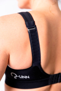 Cannes Sports Bra back view black - the perfect plus size sports bra
