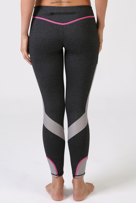 Q-Linn Anthracite Leggings Pink **Limited Edition**