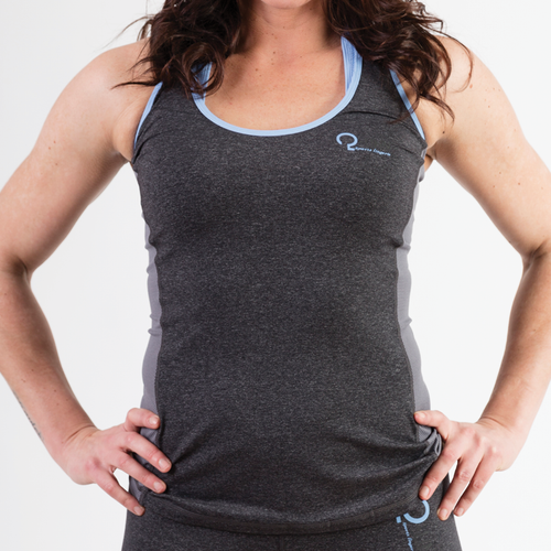 Q-LINN anthracite and blue body top